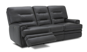 Forester Grey Power Reclining Leather 2-Piece Living Room Set