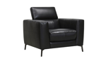 Uptown Black Leather Chair