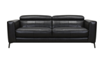 """82"""" wide Uptown .Black Leather Sofa"""