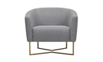 Contemporary chair perfect for small spaces.