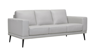 Ashbury Dove Leather Sofa