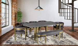 Chicago Grey 6-Piece Dining Room Set