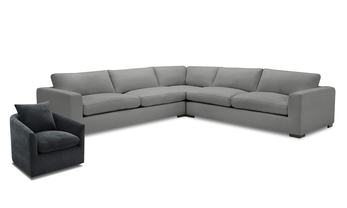 Picture of Prim Smoke 2-Piece Living Room Set