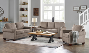 Glendale Tan 3-Piece Living Room Set