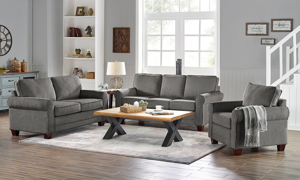 Glendale Grey 3-Piece Living Room Set