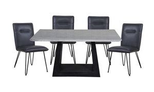 Verona Marble 5-Piece Dining Set