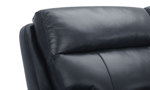 Power headrest on the Keller sectional that is made from top grain leather. Affordable sectionals now on sale.