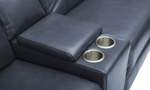 Power sectional with storage console and cup holders. Affordable sectionals now on sale.