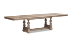 Cardoso Sandstone table from Klaussner with extension leaves.