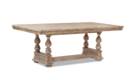 Cardoso Sandstone table from Klaussner with no extension leaves.