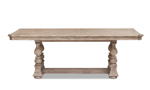 Klaussner Cardoso Sandstone table from Klaussner with no extension leaves.