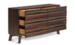 Dresser crafted from sustainably sourced Brazilian Pine.