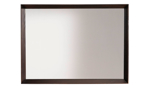 Solid pine mirror from Rotta Furniture in a brushed brown wood finish.