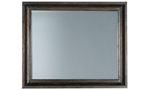 Classic brown mirror perfect for decorating your bedroom and goes with the Cooper Beach Bark Collection.