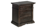 Classic nightstand made with crown molding.