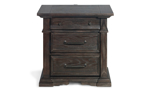 30-inch tall nighstand with a dark brown finish.