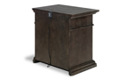 Affordable nightstand in classic brown finish with USB ports.