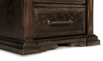 Traditional styled brown nighstand makes a great addition for your bedroom.