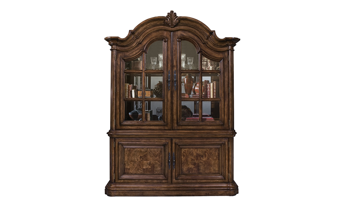 Pulaski display cabinet holds plenty of storage for all of your china and other formal dining pieces.