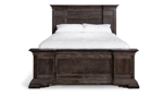 Affordable bed from Designworks Furniture in a Beach Bark finish.