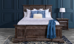 Queen or King bed in a contemporary finish.