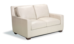 """60"""" wide sofa made from top grain leather."""