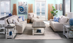 Rocky Mountain Leather Vail Bone Collection looks beautiful in any living room.