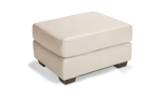 Top grain leather ottoman made in the USA.