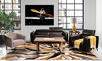 Violino Uptown Black sofa and chair in top grain leather.