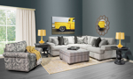 The American made Collins Collection from Main & Co. Seating would compliment any living room.