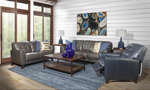 Metro Leather Collection includes sofa, loveseat and recliner.