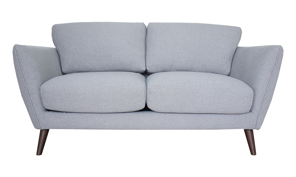 """62"""" wide neutral grey loveseat from Carbon."""