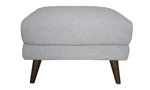 Grey footstool makes a great accessory for your living room.