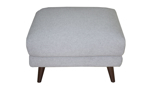 Complete your Melrose collection from Carbon by getting this grey ottoman.