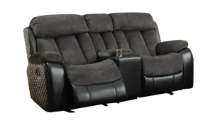 Connor Polo Grey Dual Reclining Console Loveseat