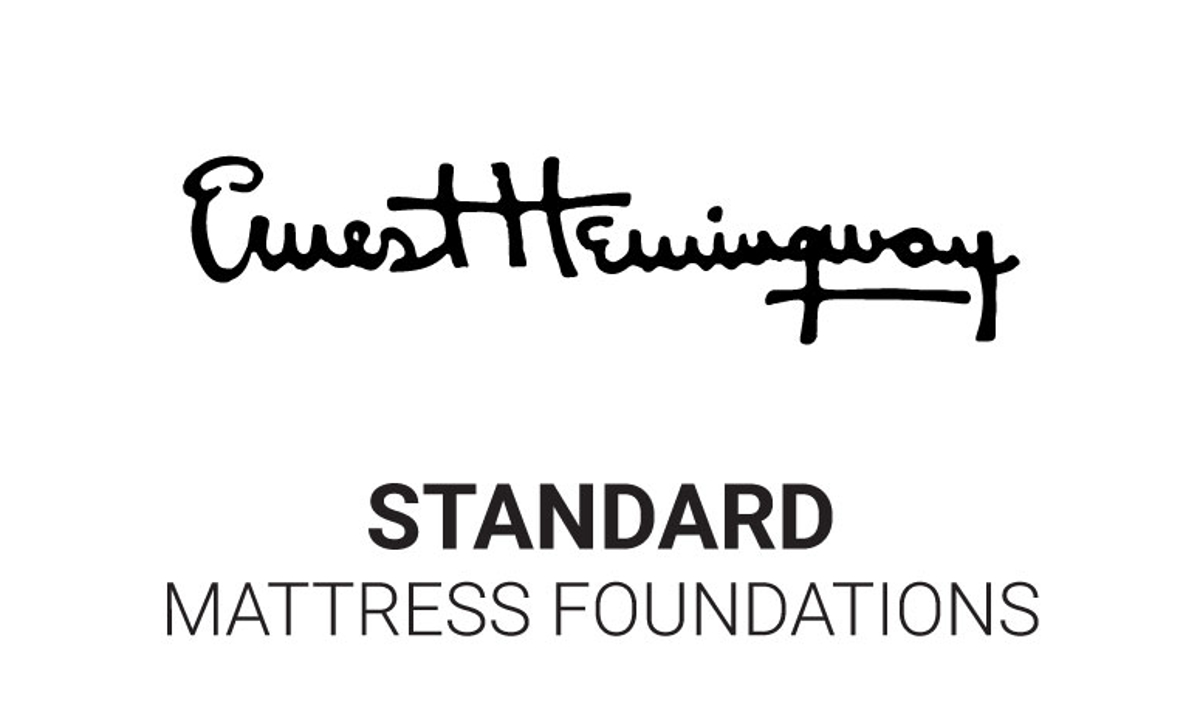 Standard 9-inch high mattress foundation box springs for use with the Hemingway Luxury mattresses