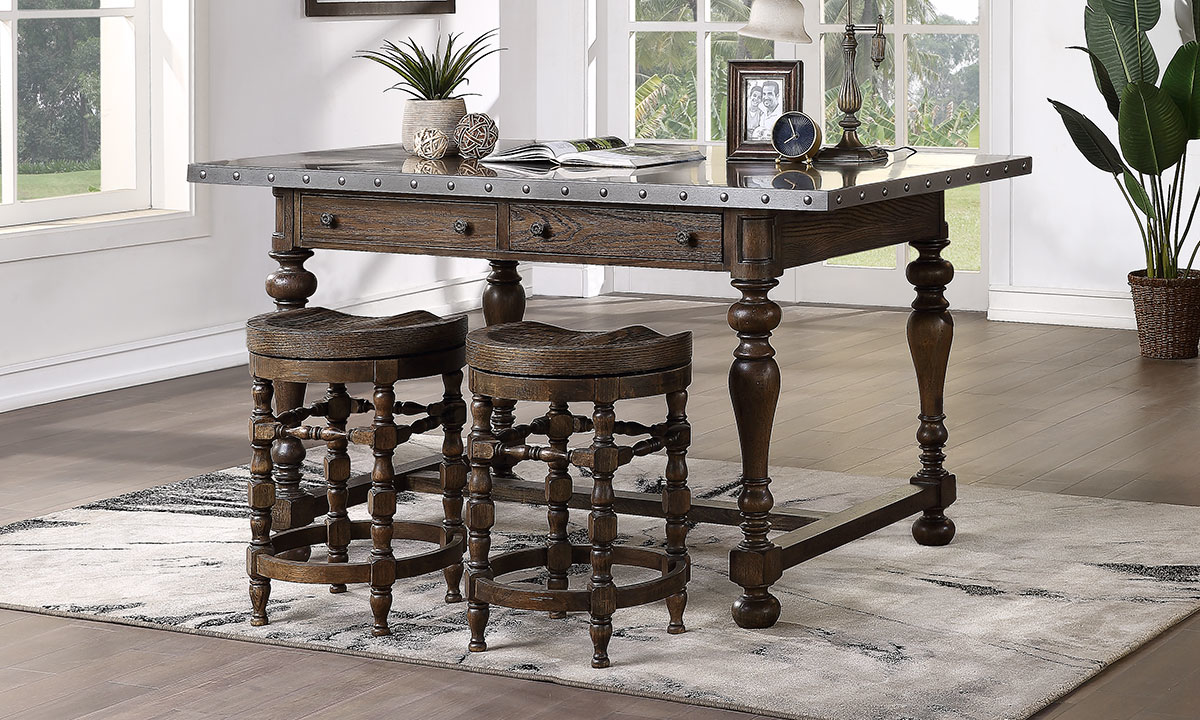 Big Sky dining set includes counter height table and two stools.