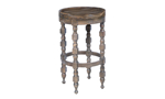 Coounter height stool table from Home Insights Furniture features a hand-rubbed wood finish.