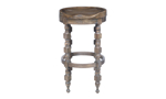 Big Sky brown counter height stool with turned wood legs.