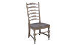 Big Sky brown side chair in a wood finish.