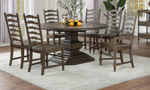 Big Sky dining set collection with side and arm chairs.