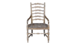 Big Sky Brown dining chair with arm rests from Home Insights Furniture is made of white oak solids.