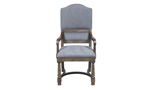 Gray dining armchair from Home Insights Furniture.