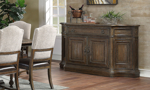 Big Sky Brown credenza is the perfect dining room storage accessory.