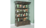 Etagere Shelf from the Big Sky Brown Collection features integrated display lighting.