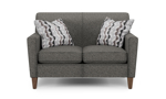 """70"""" wide loveseat from flexsteel with track arms."""