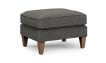 Flexsteel Digby ottoman is made with grey fabric.