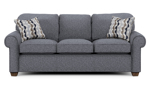 """86"""" wide sofa from flexsteel, the Thorton couch is made of hardwood frames."""