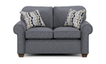"""61"""" wide loveseat from flexsteel with roll arms."""