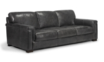 Medici Grey Sofa is made of top grain Italian leather and a hardwood frame.